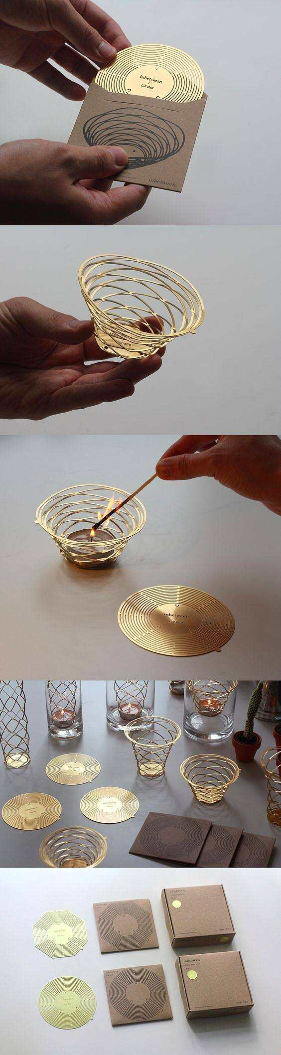 Brass pop up candle ...